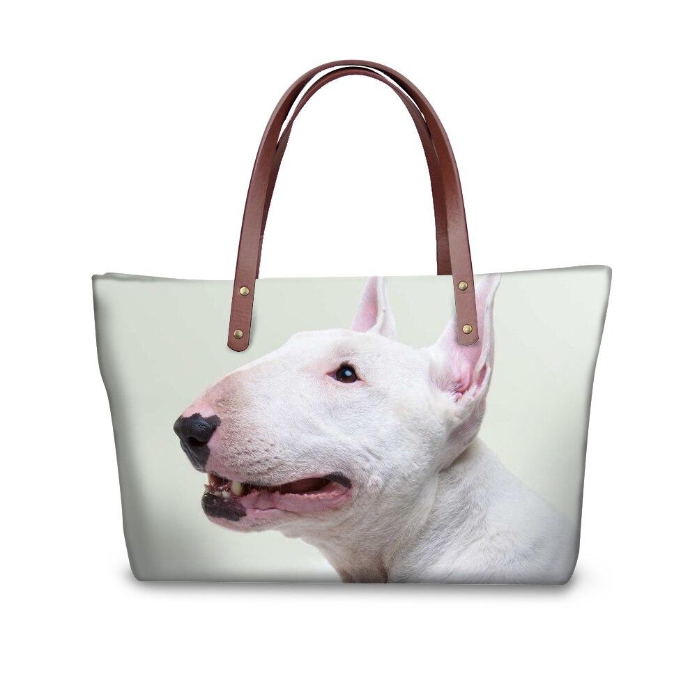 Noisydesigns сумка бультерьер яму бульдог печать милые животные топ-ручка сумки Для женщин Повседневное дамы руки Bolsa женственный