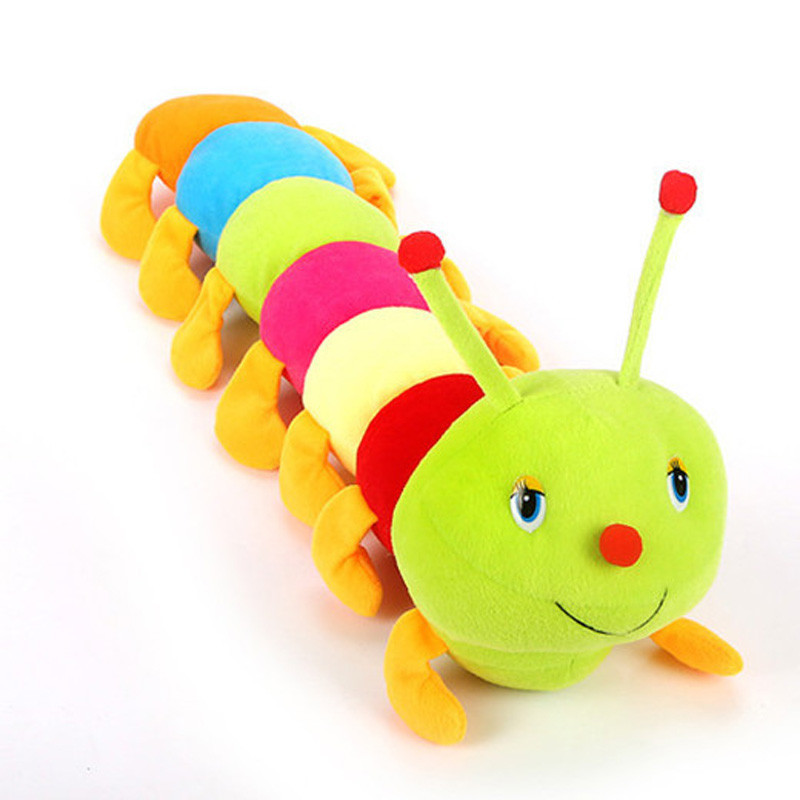 Novelty 50cm Caterpillar Soft plush Doll Baby stuffed pillow Toys cushion Cute gift for kids Birthday Christmas gifts