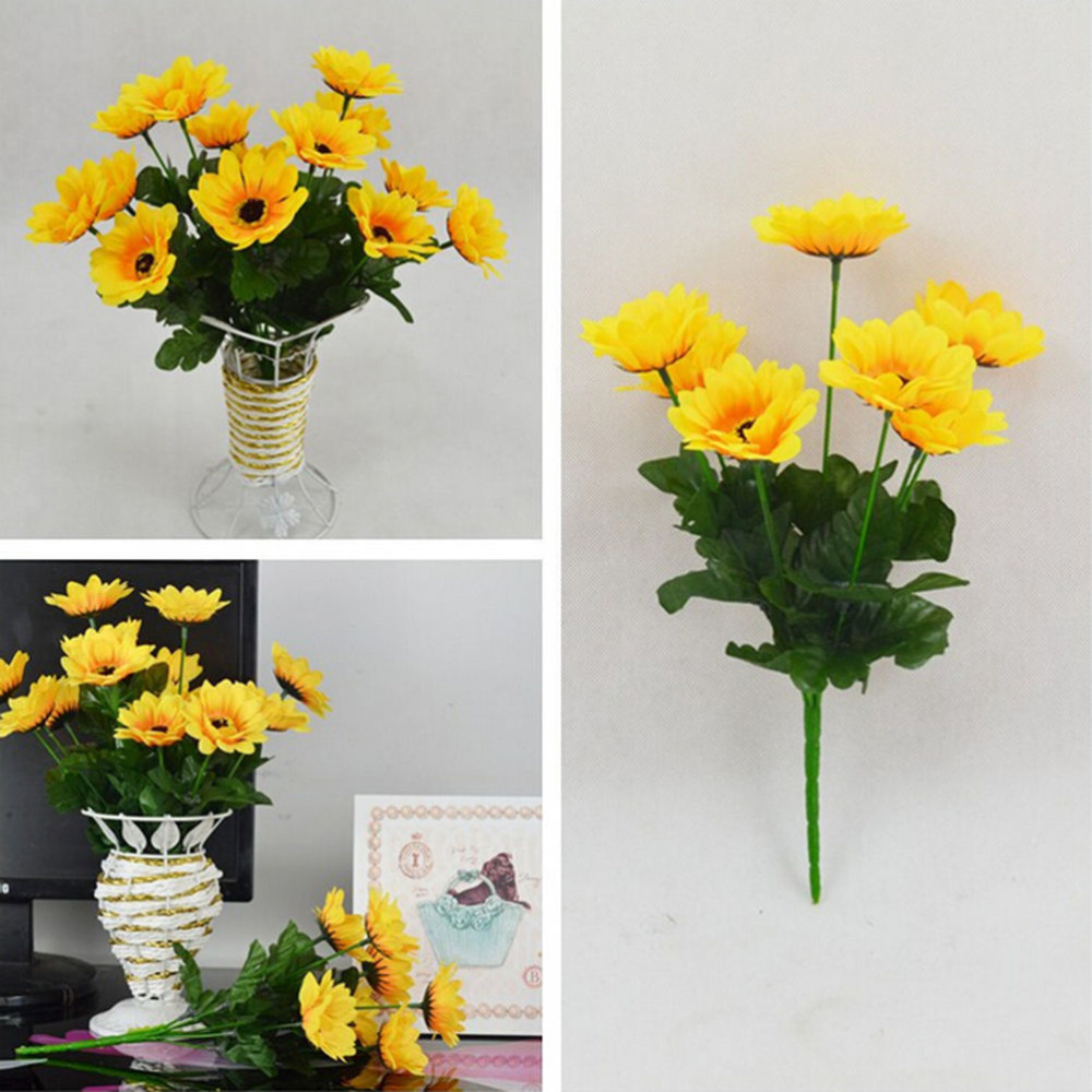 Compare prices on wholesale silk flower bouquets online shopping 2016 new 1 bouquet 7 heads beauty fake sunflower home floral decor charm artificial silk flower dhlflorist Gallery