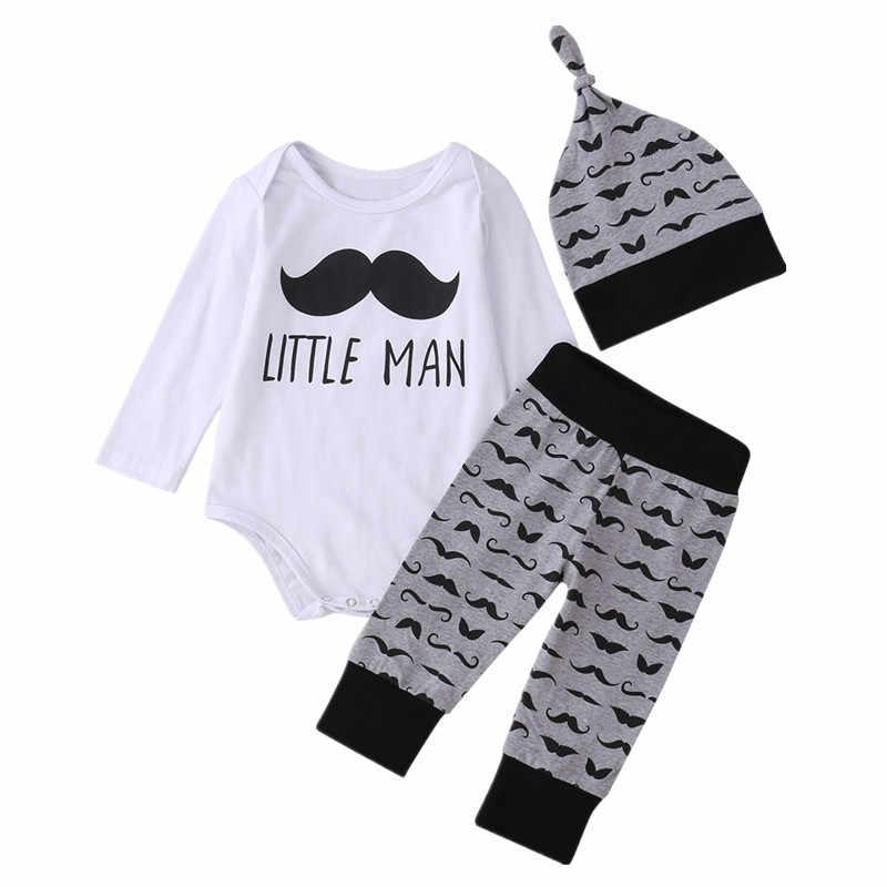 Newborn Toddler Infant Baby Boy Girl Moustache Romper Top Pant Leggings Outfits Set 3pcs Clothes 0 18m Baby Boy Infant Babybaby Girl Infant Clothes Aliexpress