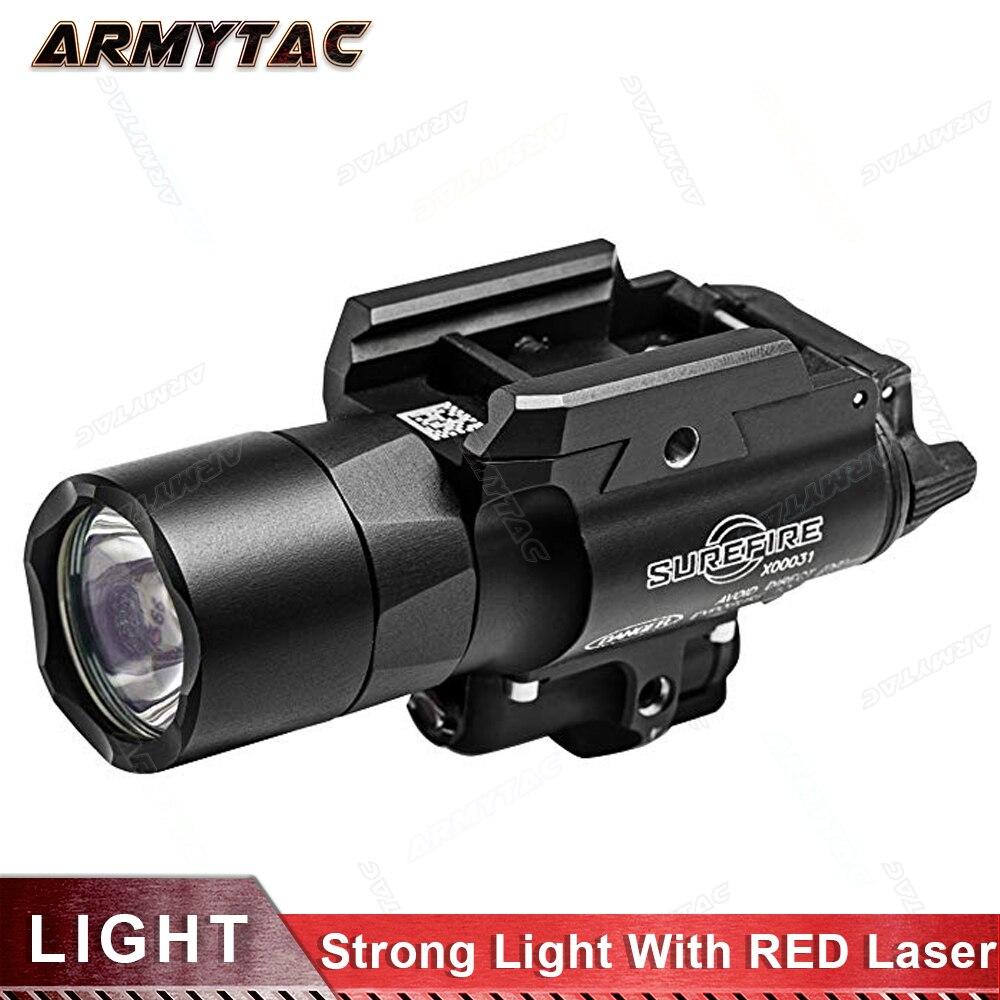 Flashlight Lens-20mm Laser TIR Surefir X400 Rail-Mount Airsoft Picatinny Weaponlights-W/built-In
