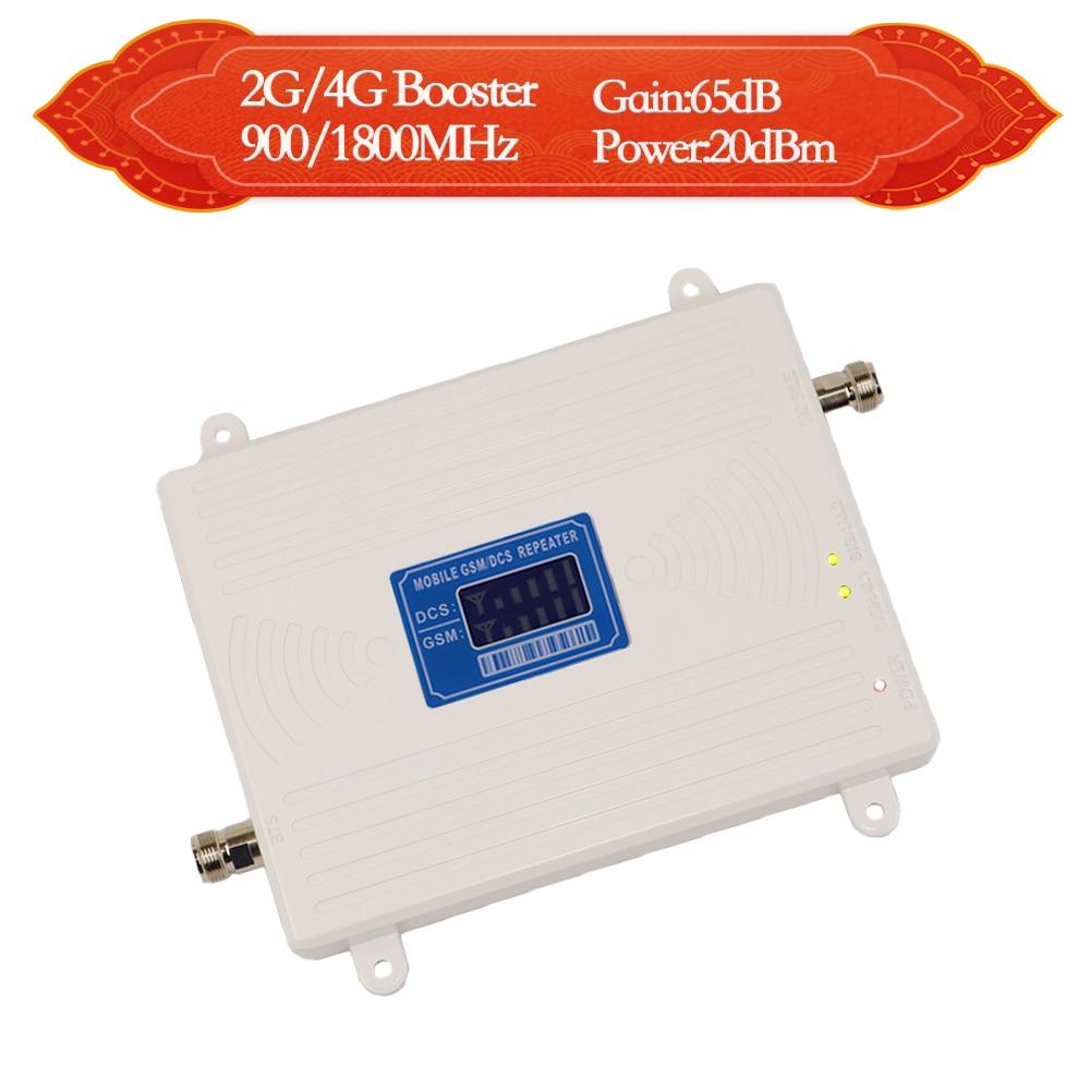 Amplificateur de signal GSM 900 1800 4g 1800 MHz lte répéteur de signal 2g 900 MHz amplificateur de signal de téléphone portable B3 et B8 amplificateur cellulaire