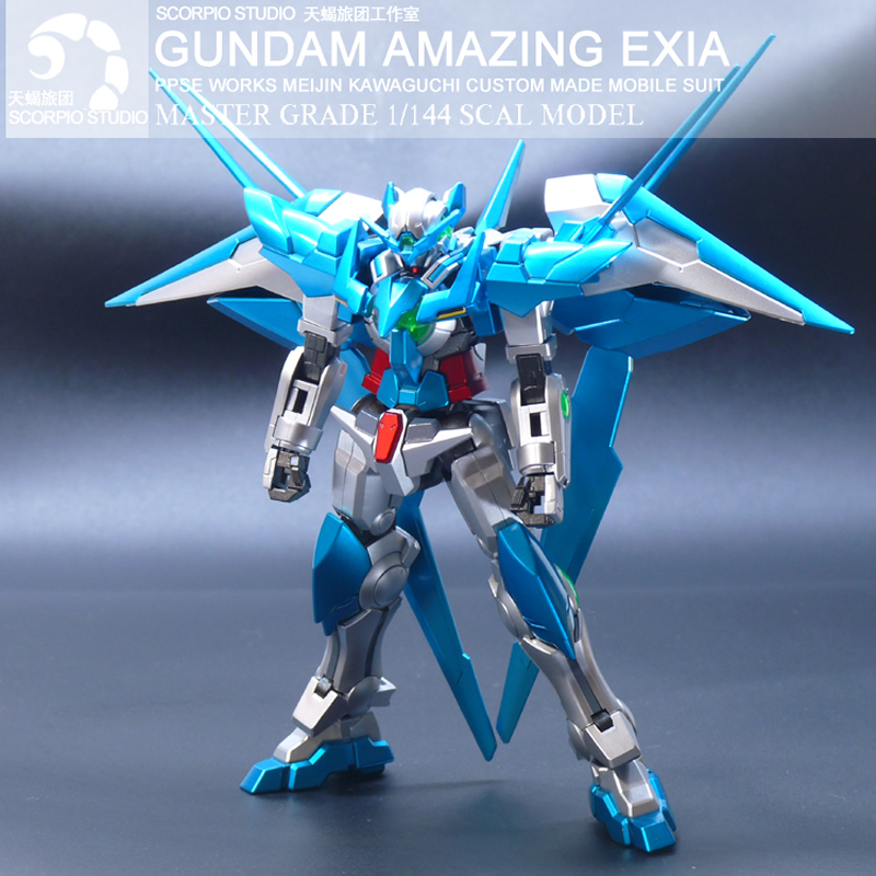 Original Robot Model HGBF 1/144 Gundam Amazing Exia Finished Goods Personal Tailor Collection Toy Anime action figure gift 12cm ...