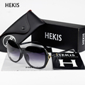 HEKIS Women Oversize Sunglasses Glasses Fashion Vintage Summer Style Outdoor Sport Sunglasses Men oculos D1742