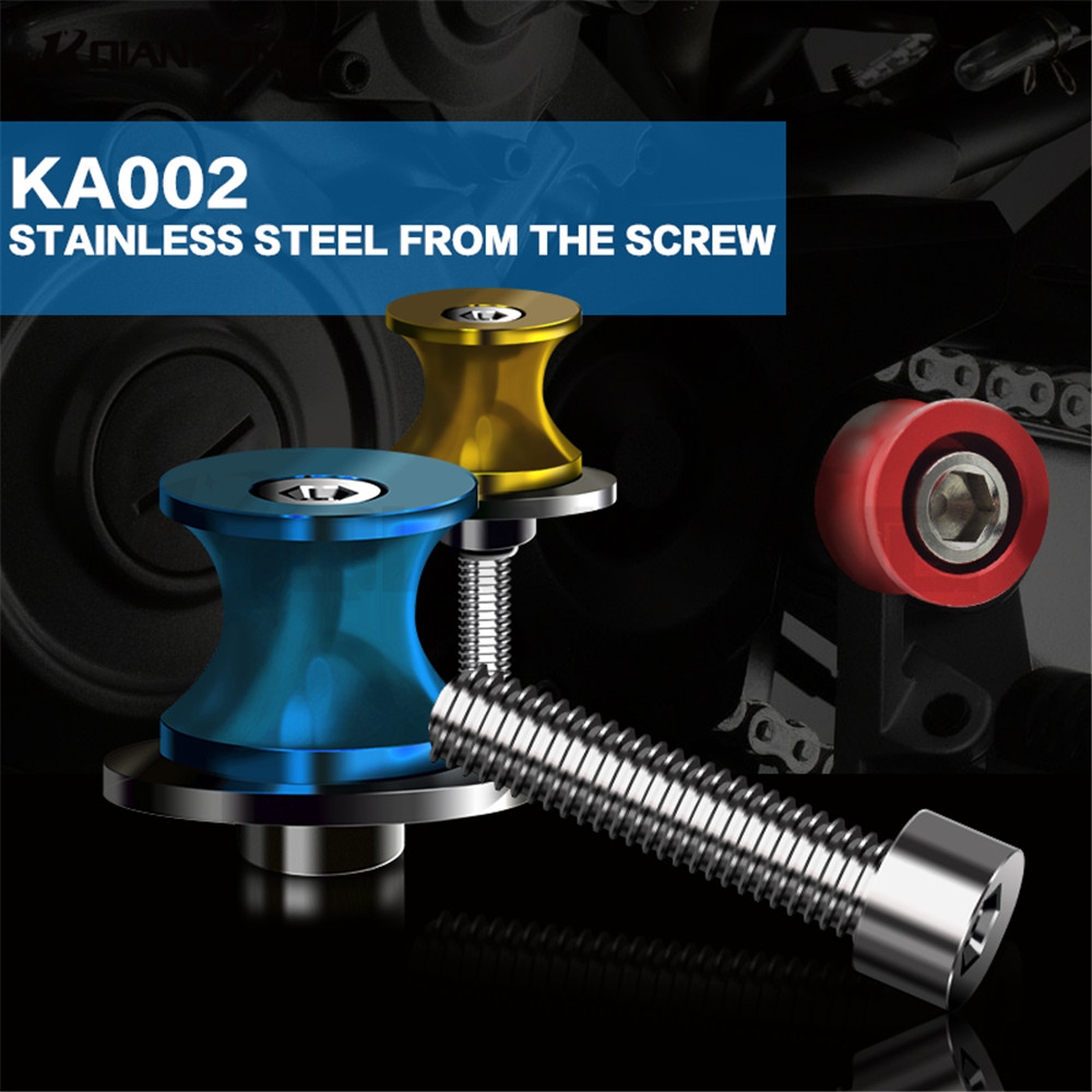 2 предмета Универсальный 8 мм ЧПУ Алюминий маятник Катушки ползунки поворотным кронштейном стенд винт для Suzuki GSXR600 GSXR750 2004 2005 GSX-R600 GSX