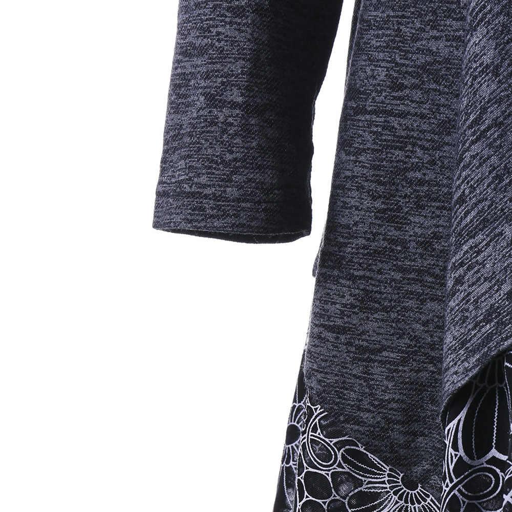 Gamiss 秋女性ディープグレー Tシャツトップスボタン修飾語カウルネック花延縄トップカットワーク Tシャツプラスサイズ XL-5XL