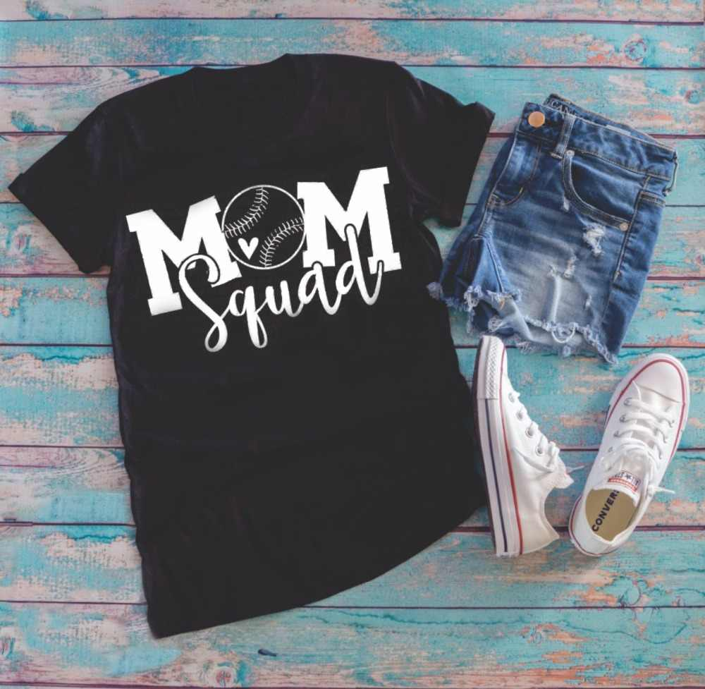 3cd7c2f4d597 Mom squad Baseball svg t-shirt Mother's Day gift women fit graphic cotton  grunge tumblr quote street style gift t shirt tees top
