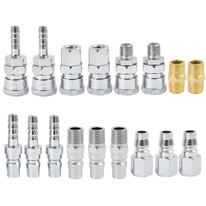 Image 2 - BMBY 18Pc Air Line Hose Fittings 1/4 Inch Bsp Compressor Air Thread Hose Connector Fittings Male Female Connector Quick Releas