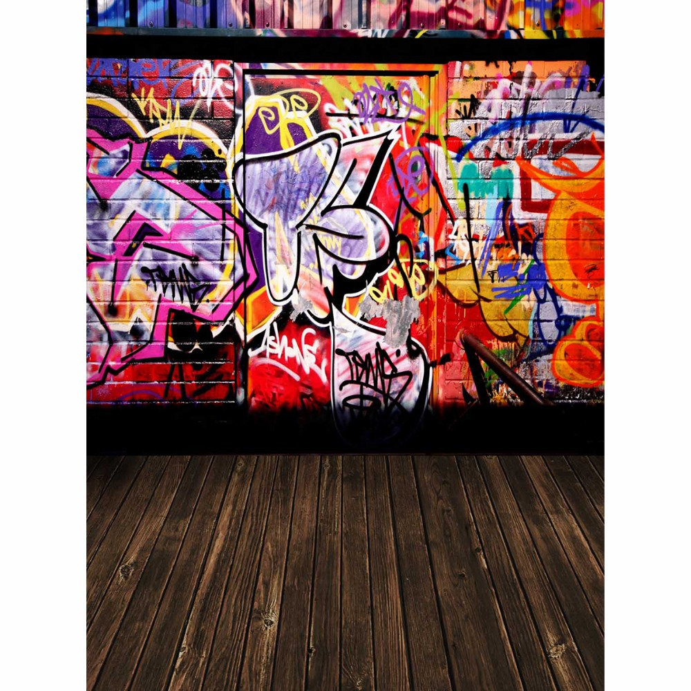 Allenjoy photographic background brick wall with graffiti door backdrops children christmas summer fabric 8x8 in background from consumer electronics on