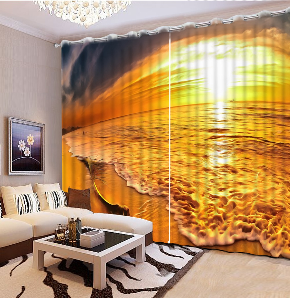 Custom 3d Stereoscopic Modern Curtains For Living Room