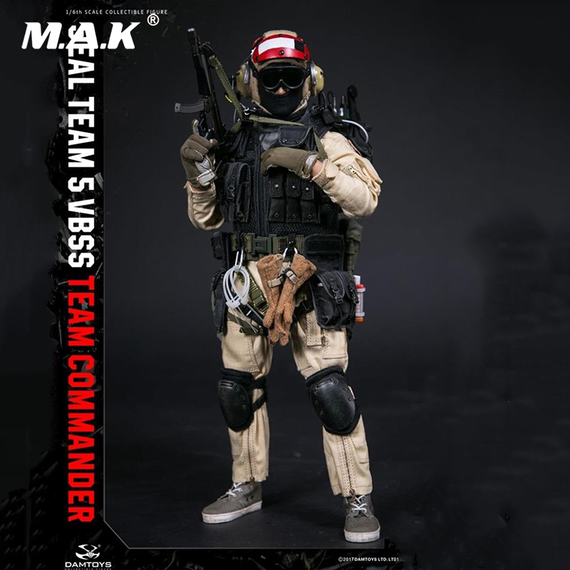 Collectible 1/6 Full Set Solider 78046 78045 HISTORY SERIES US SEAL TEAM 5 VBSS TEAM LEADER Male Action Figure for Fans Gifts image
