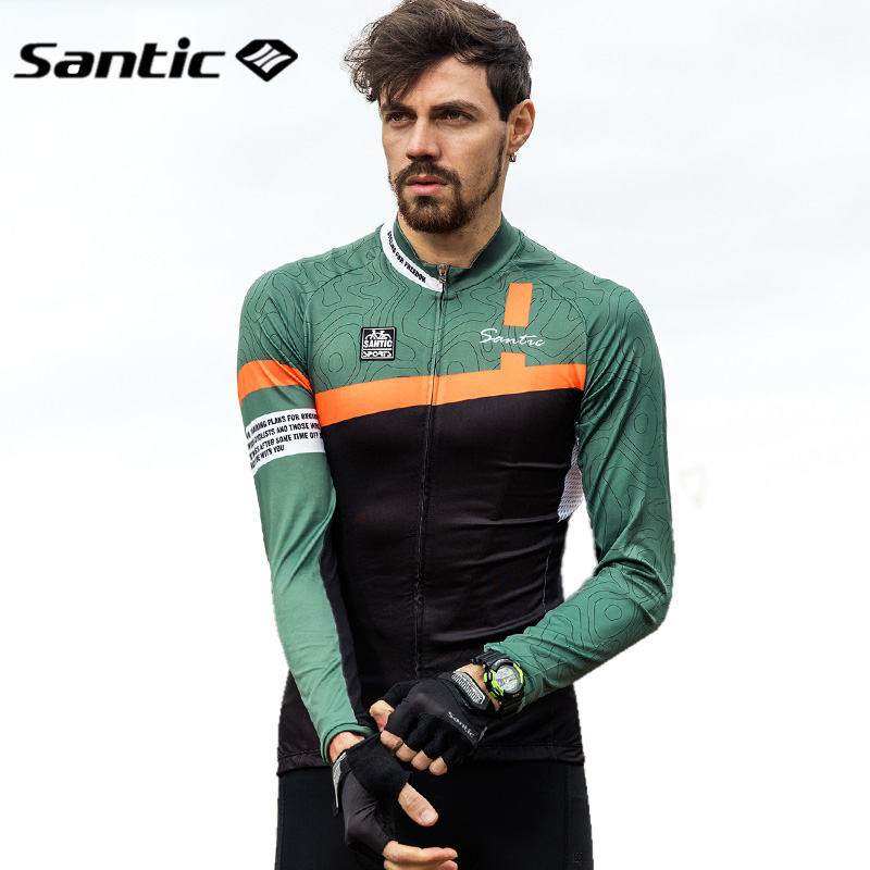 Santic Long Sleeves Cycling Jerseys Men 2018 Road Mountain Bike MTB Jersey  Spring Summer Autumn Outdoor Sport Cycling Clothings-in Cycling Jerseys  from ... fed653f46
