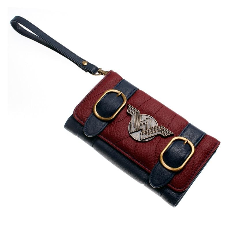 Mulheres-carteira-fivela-dupla-tri-fold-flap-bolsa-Azul-vermelho-Bordeaux-bordado-emblema-do-Metal-carteira (3)