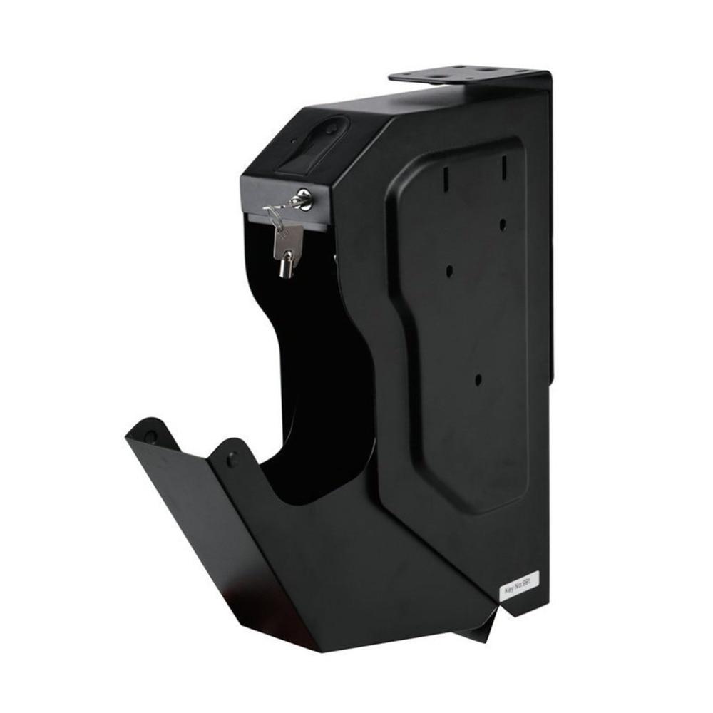 Защищен Биометрическим отпечатком пальца коробка холоднокатаной стали безопасности пистолет Strongbox Портативный Ключ ценные ювелирные изде