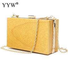 Sandal Wood Clutch Bag For Women 2019 Wooden Evening Party Bags Clutches Crossbody Hard-Surface Box Handbag Bolsa Feminina