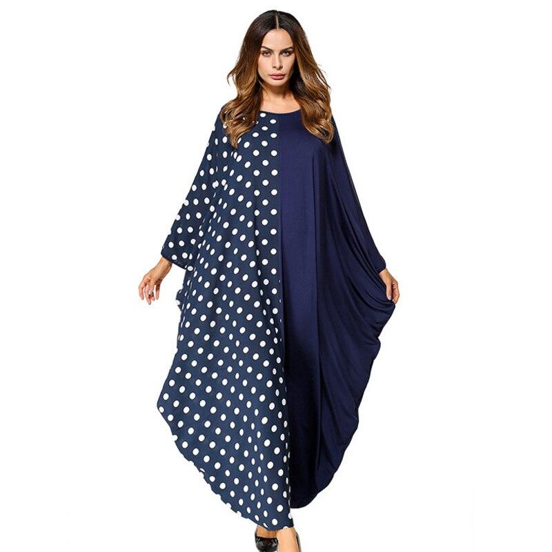 b693c7ffb La mejor compra Vestido Maxi musulmán Abaya punto Batwing mangas anchas  Malasia vestidos Oriente Medio marroquí Ramadán árabe ropa