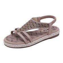 Summer Sandals Women Shoes 2019 Fashion Flat Sandals Rhinestones Crystal Shoes Women Slippers Flip Flops Sandalia Feminina недорого