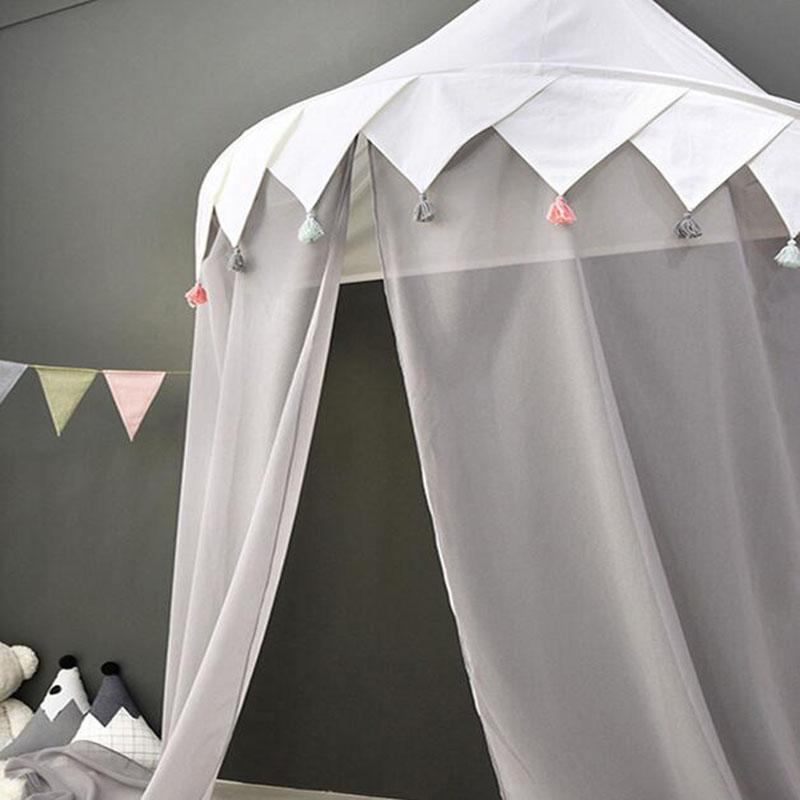 Tente de Tipi pour enfants pliable Tipi berceaux en coton suspendus Wigwam piscine sèche nouveau-nés nordique chambre décor accessoires de photographie - 3