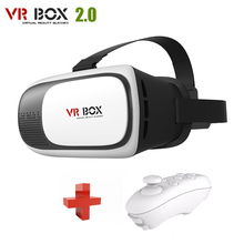 VR box 2.0 3d glasses/virtual reality google cardboard headset goggles glasses + Smart Bluetooth Wireless Remote Control Gamepad