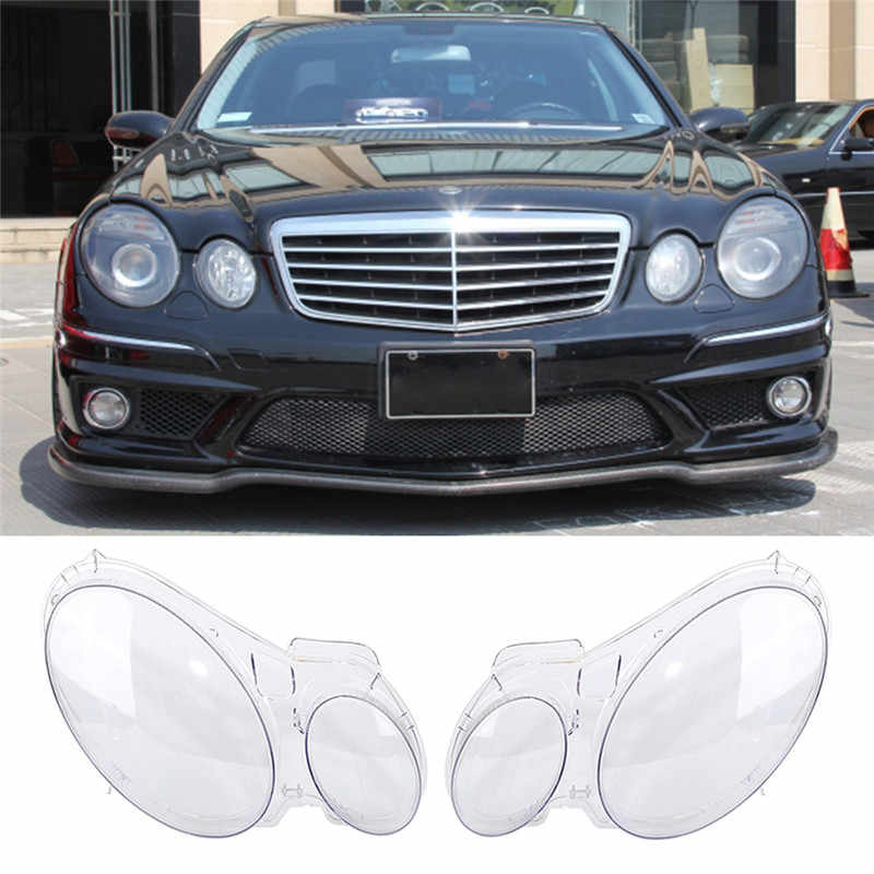 Car Headlight Shell Lens Light Lamp Glass Cover Replacement Lens For Benz W211 E240 E200 E350 E280 E300 2002-2008 accessories