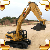 Christmas Gift 1/40 Digger Excavator Machine Metal Model Big Engineering Truck Vehicle Car Simulation Alloy Static Die cast