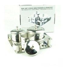 3Pcs/set Salon Manicure Acrylic Powder Liquid Container Organizer Tray Dappen Dish Nail Art Tools