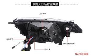 Image 3 - Luz delantera de coche para pantalla de vídeo RHD LHD, faros delanteros NV200 de 2009 a 2014, faro delantero NV200 NV 200 DRL HI LO HID de xenón