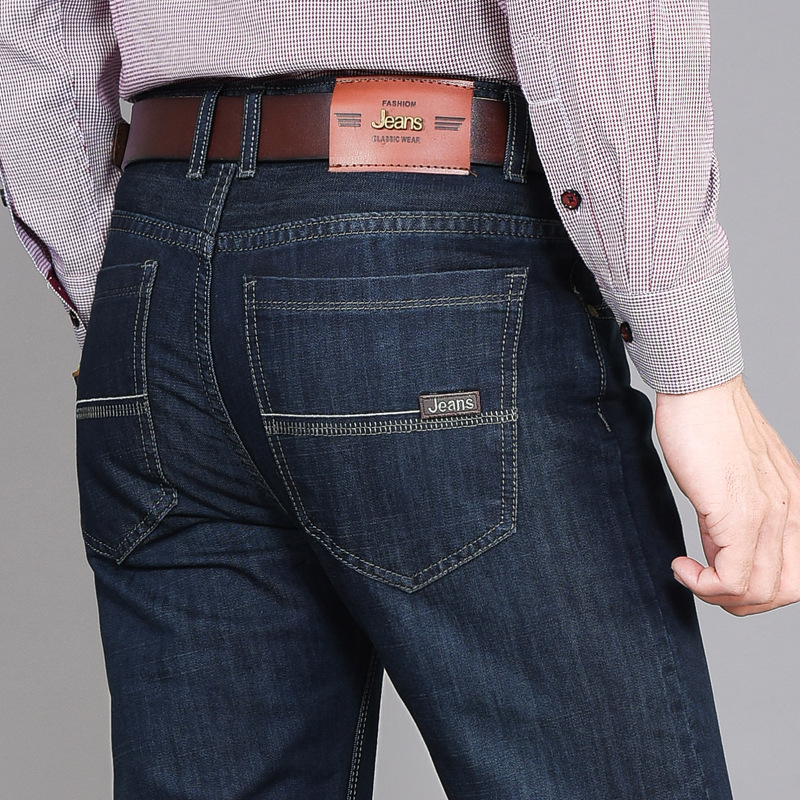 HO New 2020 Jeans Men Loose Straight Jeans Trousers Leisure Business