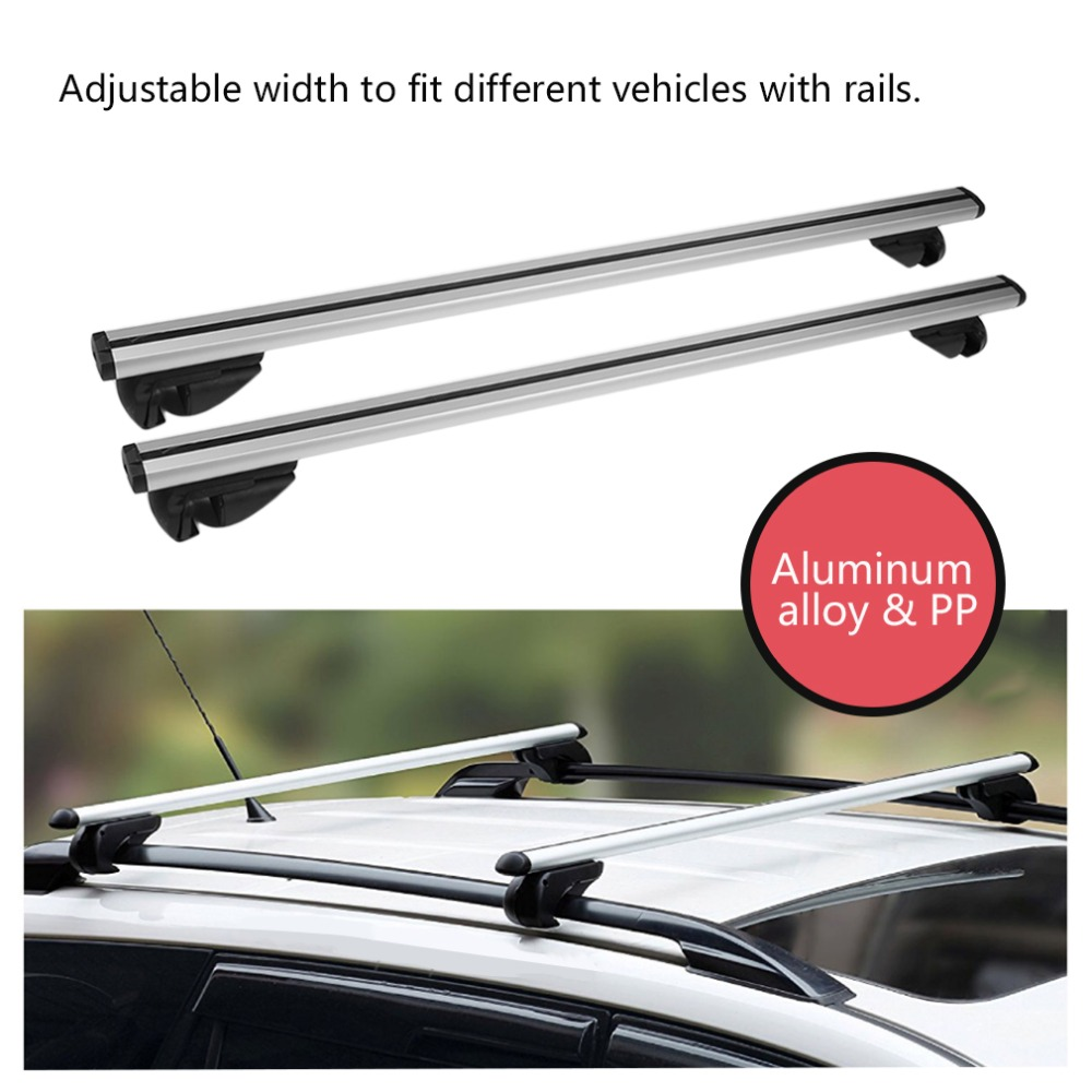 Durable Lockable Anti Theft Cars Auto Vehicles Roof Bars For Cars With Rails Rack Separate Luggage Rack for Car Accessories