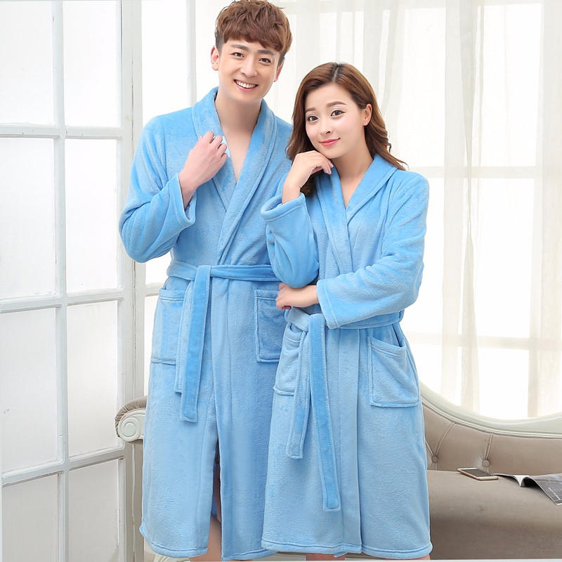 Coral Fleece Flannel fleece Long Robe main