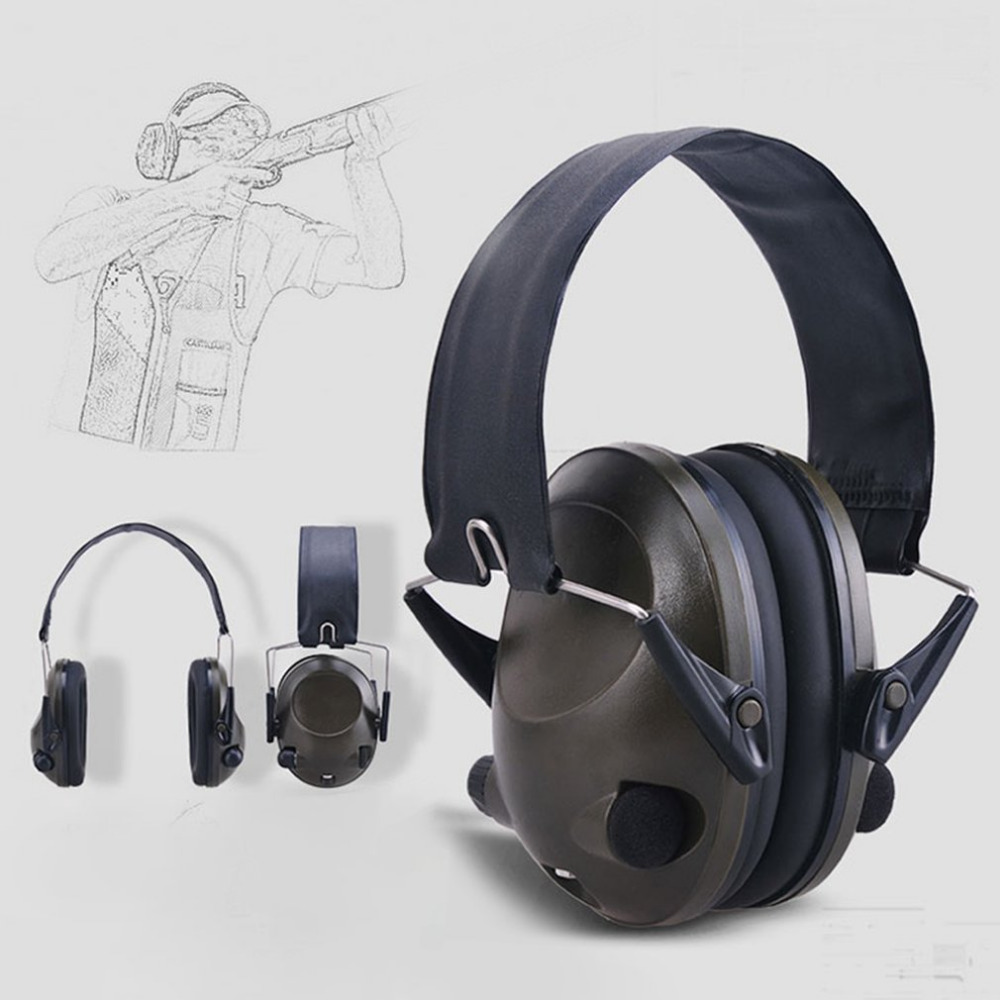 Anti-noise Military Tactical Earmuff Sport Hunting Shooting Ear Defenders Hearing Protecting Earmuffs With 3.5mm Audio Jack NEW 3m h6p3e cap mount earmuffs hearing conservation h6p3e ultra light with liquid foam filled earmuff cushions e111