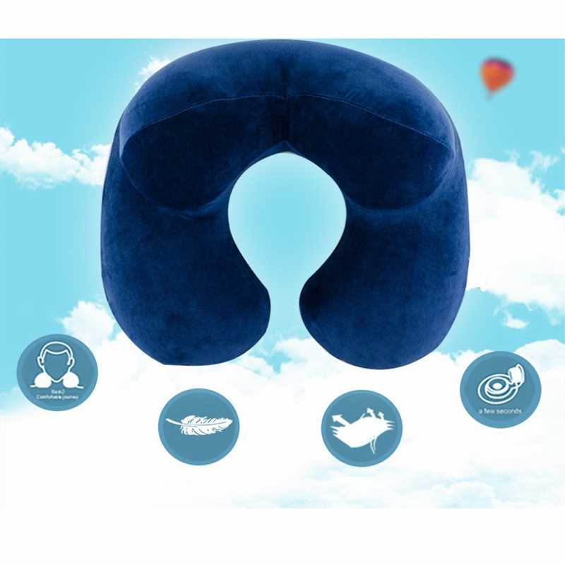 Hoomall Travel U-shaped Pillows Neckrest Outdoor Memory Foam Folding Slow Rebound Train Plane Portable Inflatable Pillow