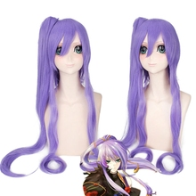 цена на Vocaloid Gakupo Brake yuet 100cm Long Straight Cosplay Wig for Women Fashion Anime Costume Party Wig Purple Claw Clip Ponytail