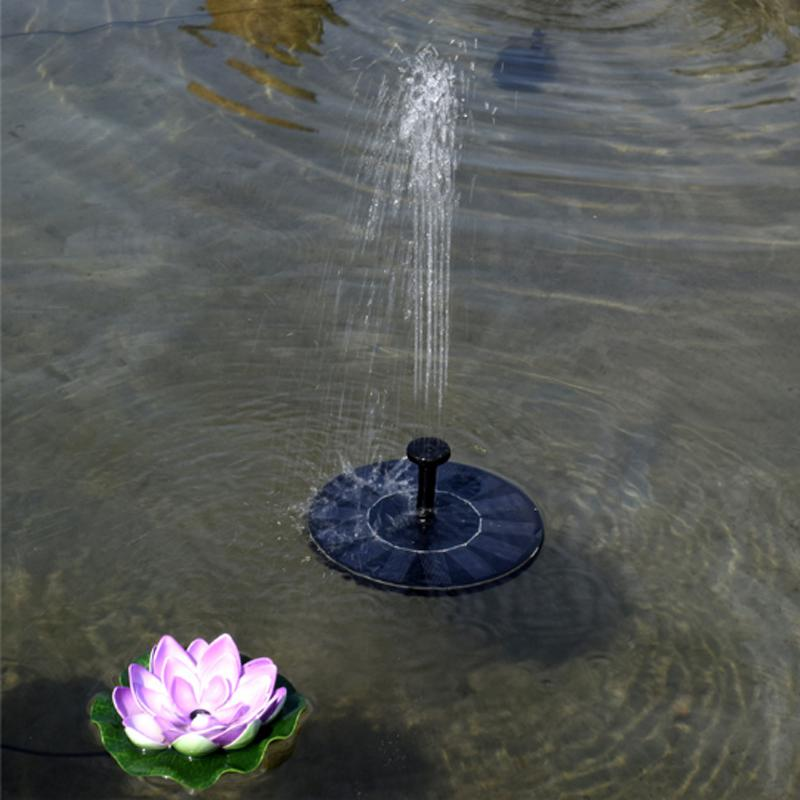 Hot Solar Fountain Round Water Source Home Water Fountains Decoration Garden Pond Swimming Pool Bird Bath Waterfall Dropship