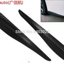 2 углеродного волокна взгляд наклейка стайлинга автомобилей Молдинги бампер угол охранник Protector4pcs/комплект четыре шт, пригодный для Toyot Версон-S
