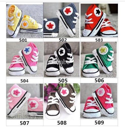 Crochet baby shoes pomoiton  baby crochet sneakers tennis  booties boy girls infant sport shoes