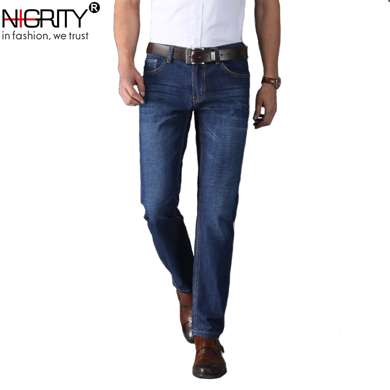 NIGRITY Mens Jeans 2018 New Fashion Stretch Slim Fit Jeans Classic Jeans Homme Big Size Pants Denim
