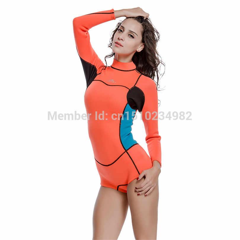 SBART 2mm neoprenu kobiety nurkowanie Shorty kombinezon jeden kawałek garnitur Kite Surfing nurkowanie z rurką aktywnego odpoczynku mogą wybrać Windsurfing strój kąpielowy wysypka straż