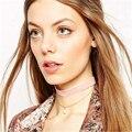 4 de terciopelo de Color gargantilla collier mujeres Brand design sexy Imitación collar de perlas colgante de joyería de perlas collar de doble XR1384