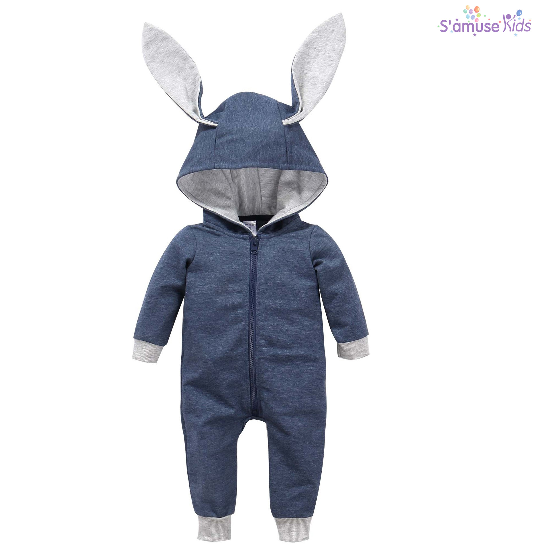 Newborn Baby Girls Boys Clothes Baby Rompers Long Sleeve Jumpsuit Bunny Ear Baby Clothes Autumn Infantil Hoodes Romper newborn infant baby girls boys long sleeve clothing 3d ear romper cotton jumpsuit playsuit bunny outfits one piecer clothes kid