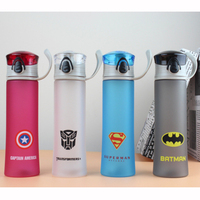 450ML Plastic Frosted Sports Bottle My Portable Water Bottle For Children Captain America Cup The Avenger