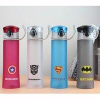 450 ML di Plastica Glassato Bottiglia di Sport Mio Portatile Bottiglia D'acqua Per I Bambini Captain America The Avenger Bollitore Garrafa De Agua