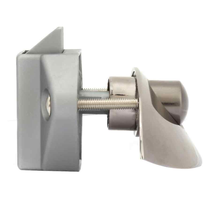 Serrure 5 pièces voiture bateau demi-lune bouton poussoir serrures RV armoire tiroir sécurité loquet serrure clé serrure