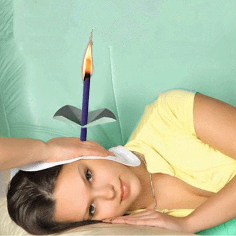 Hot Sale 25pairs=50pcs Natural Beewax Ear Candles, Trumpet Conical Ear Candles To Remove Earwax And Relax Mind