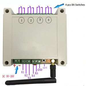 Image 3 - DC 9 38 V/AC 110 V 230 V Wifi Relais Schalter Multi Kanal Handy fernbedienung Netzwerk Modul Antenne Wireless Smart Home