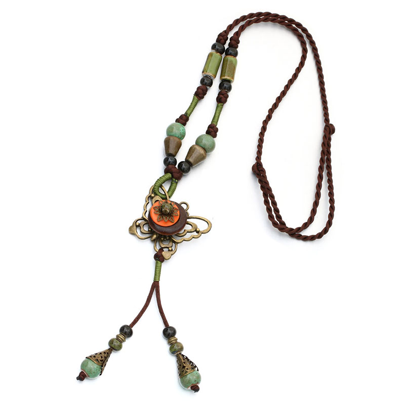 Hot Vintage Jewelry Unique Ethnic Long Rope font b Necklace b font font b Pendant b