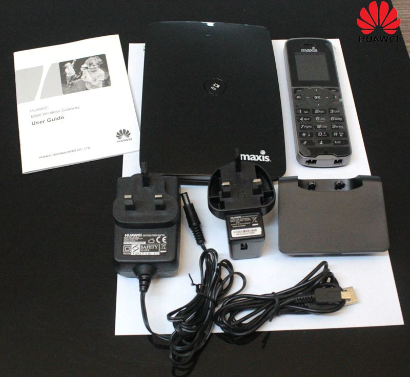 Unlock Huawei B686 3G Wireless Gateway Mobile Router With Dect Phone Support HSPA+ WCDMA 900/2100Mhz 28.8Mbps PK B683 B681 huawei b686 3g wi fi router with uk 3 pin power supply with dect phone