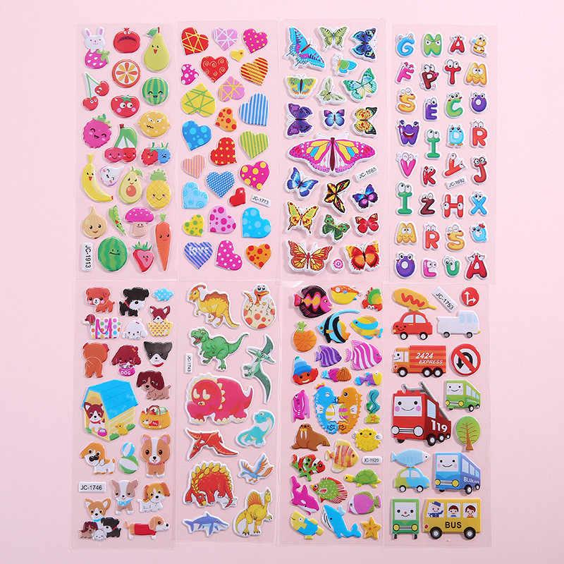 壁ステッカーバブルステッカー 3D 漫画の動物防水 DIY ベビーシャワーのおもちゃ子供のための少年少女ルーム装飾壁のステッカー