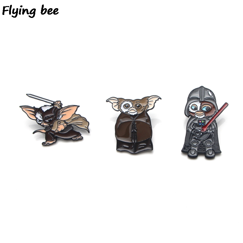 Flyingbee Gremlins Cosplay Enamel Pin For Clothes Bags Backpack Badge Personality Brooch Shirt Lapel Pins X0189