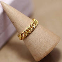 New Arrival 999 Yellow Gold Boss Link Ring Men's Ring 3.25g